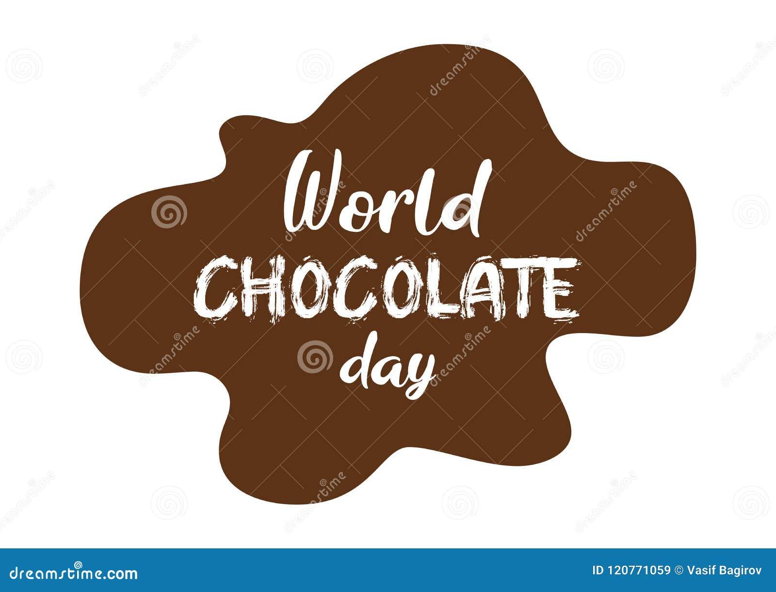 Славные и творческие конспект, знамя или плакат на день шоколада мира с славной и творческой иллюстрацией дизайна