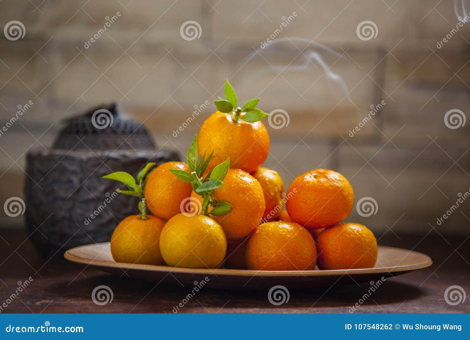 Сладкий апельсин, китайский фестиваль весны, спасибо дань, везение хиа Fu большое,