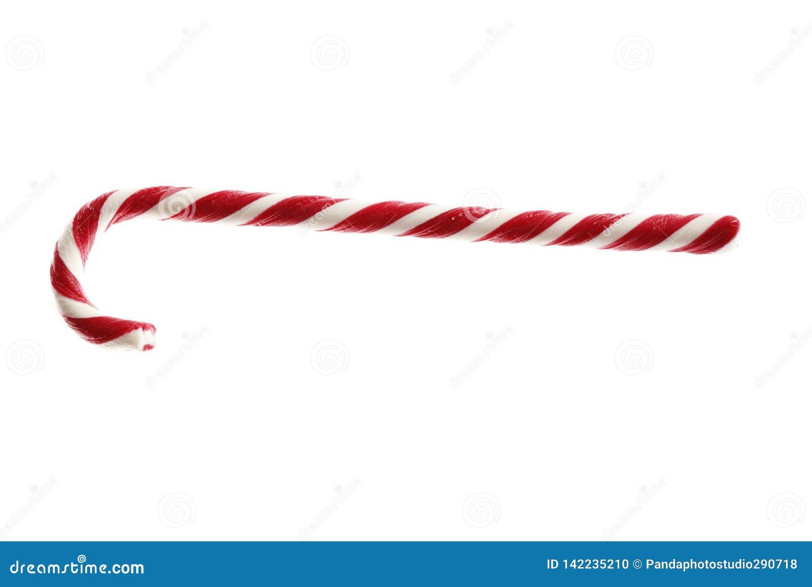 Сладостная тросточка конфеты рождества изолированная на белой предпосылке