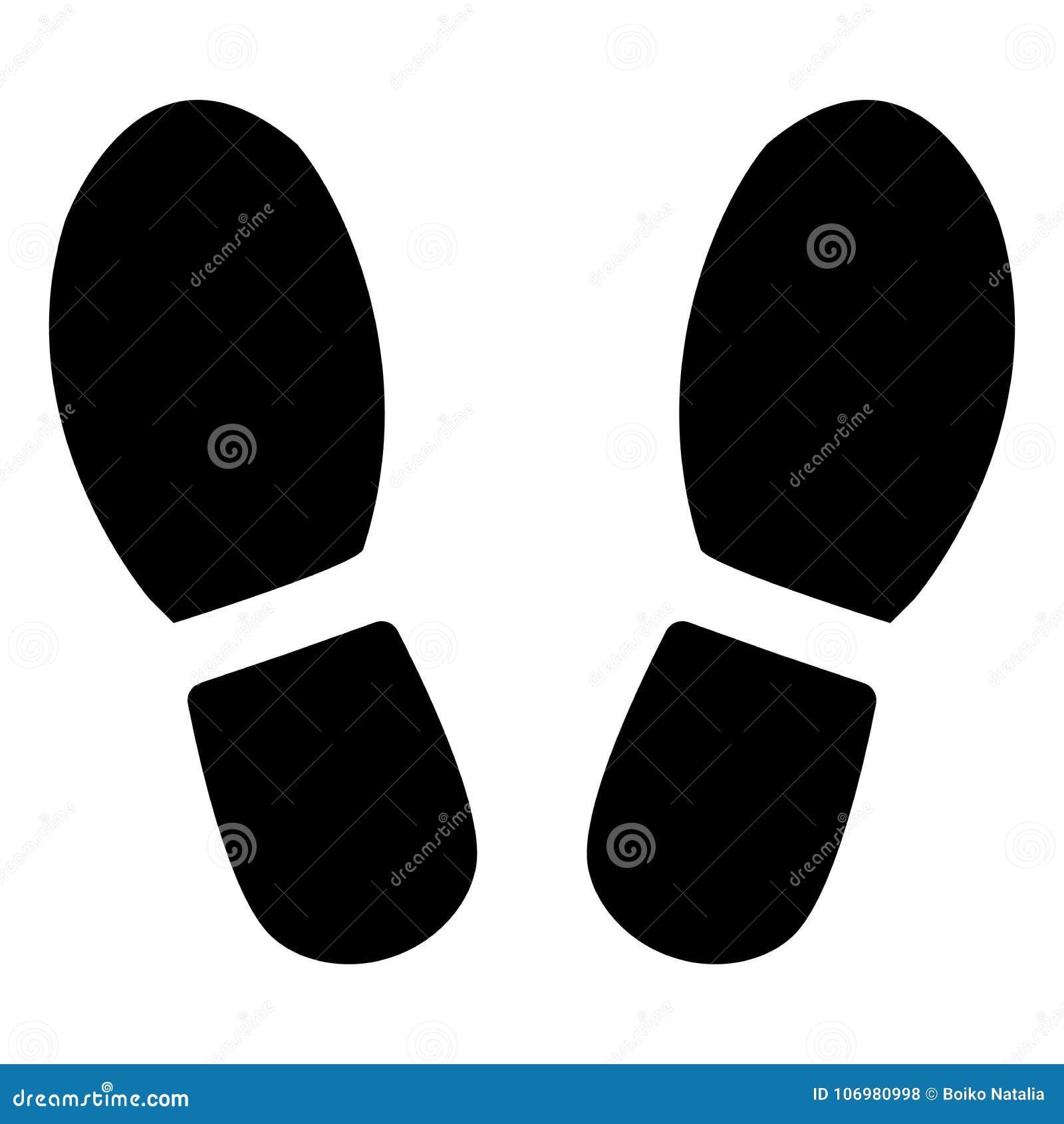 Следы ноги от ботинок