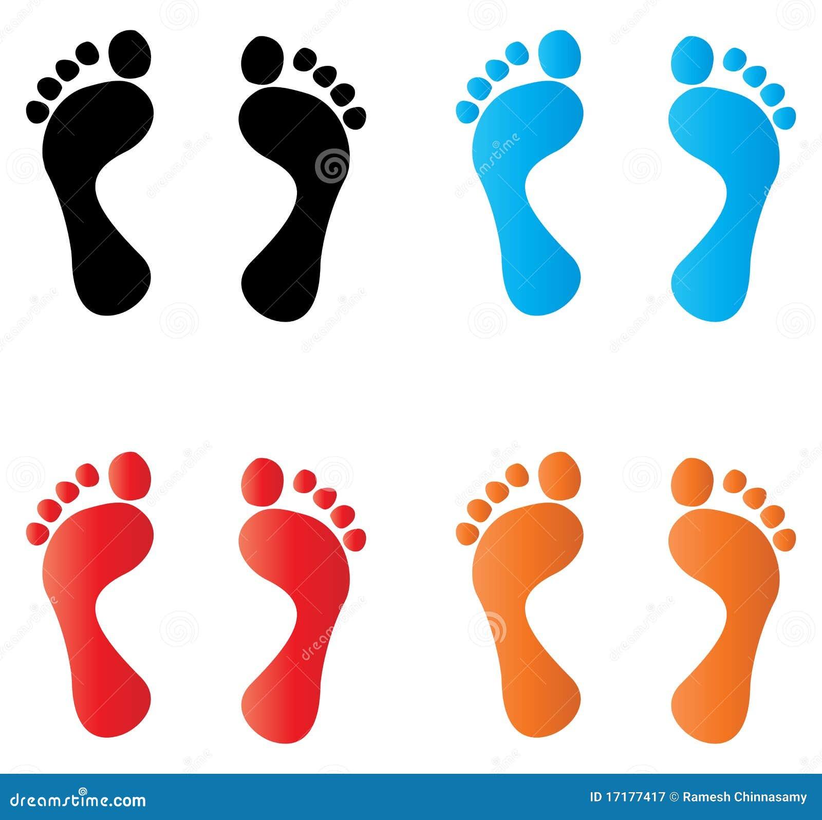 Нарисованная отпечаток ноги