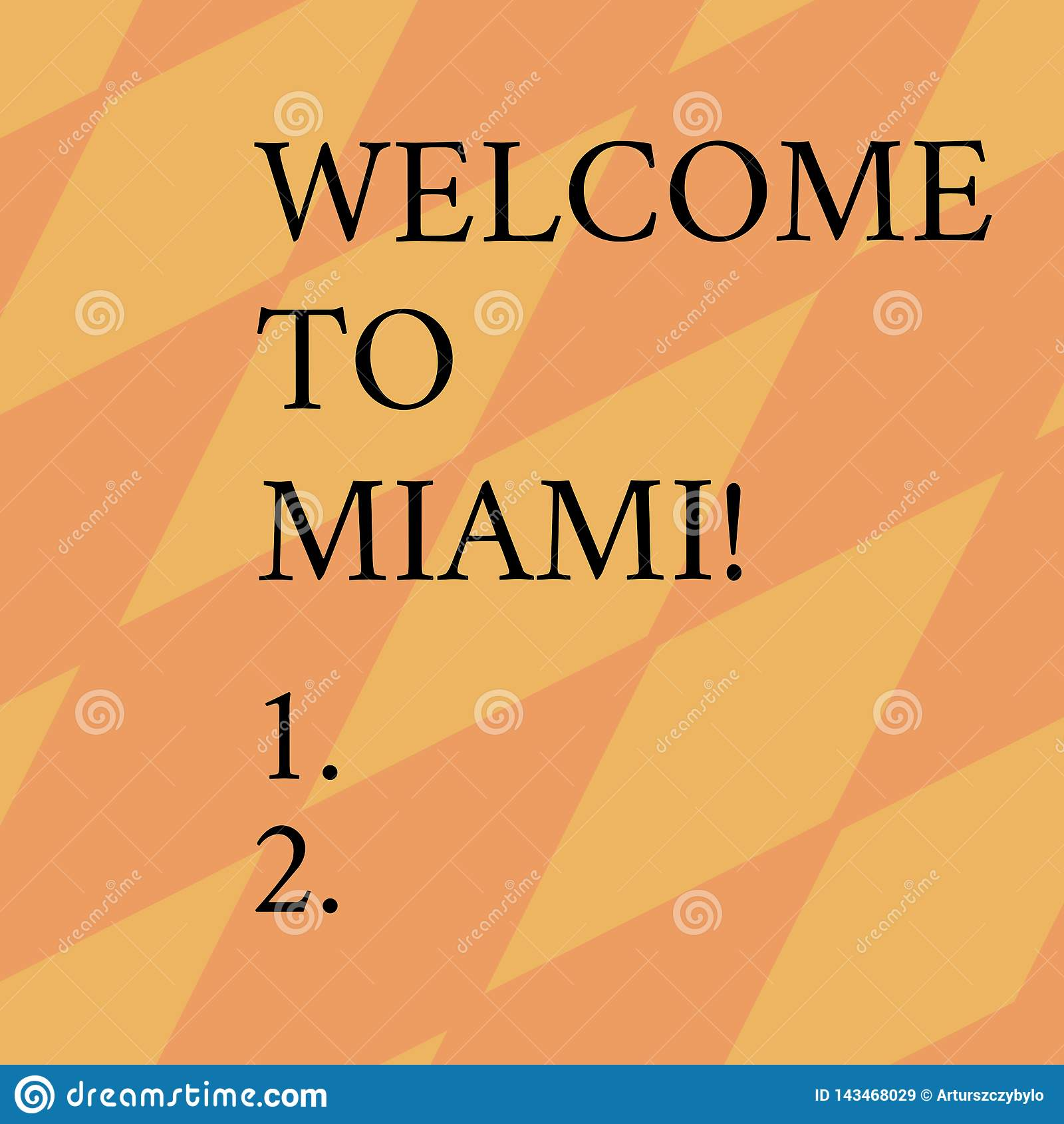 Слово писать гостеприимсво текста в Майами Концепция дела для приезжать к каникулам пляжа лета города Флориды солнечным