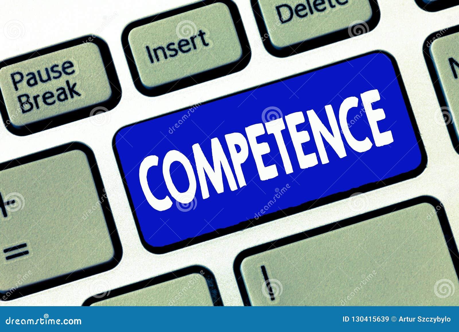 Слово писать правомочность текста Концепция дела для способности знания сделать что-то успешно эффективно