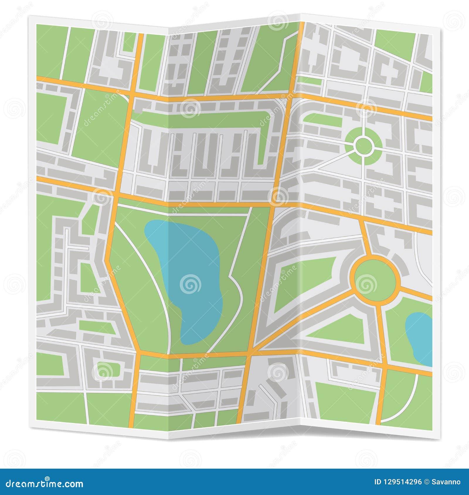 Сложенная карта города
