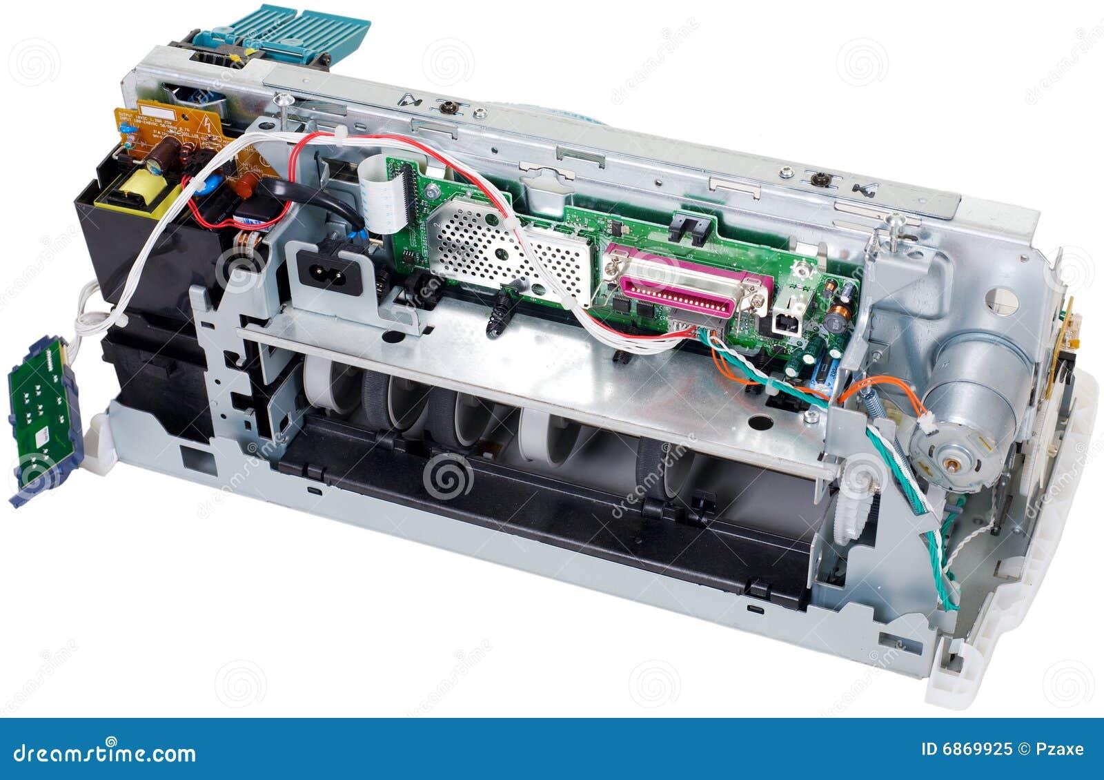 сломанная предпосылкой белизна принтера