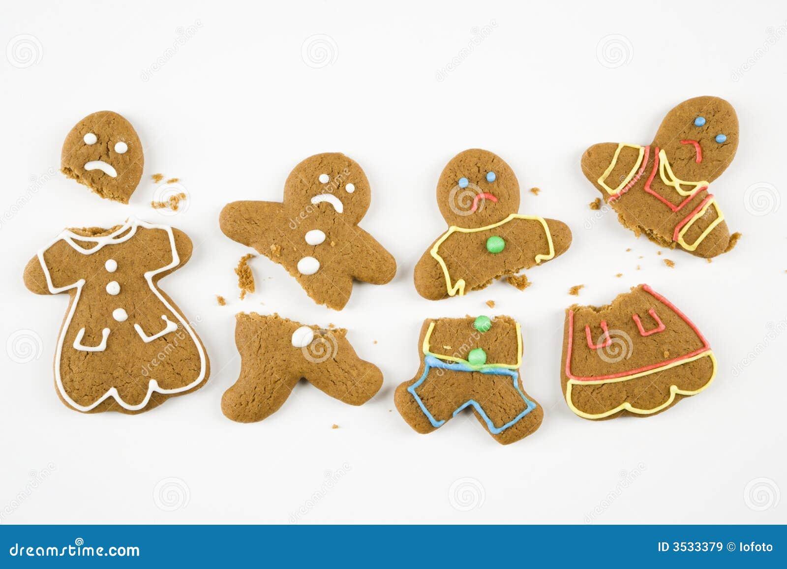 сломленный gingerbread печений