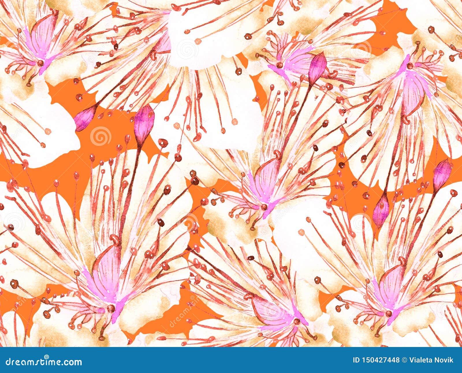 Смелый абстрактный цветочный узор