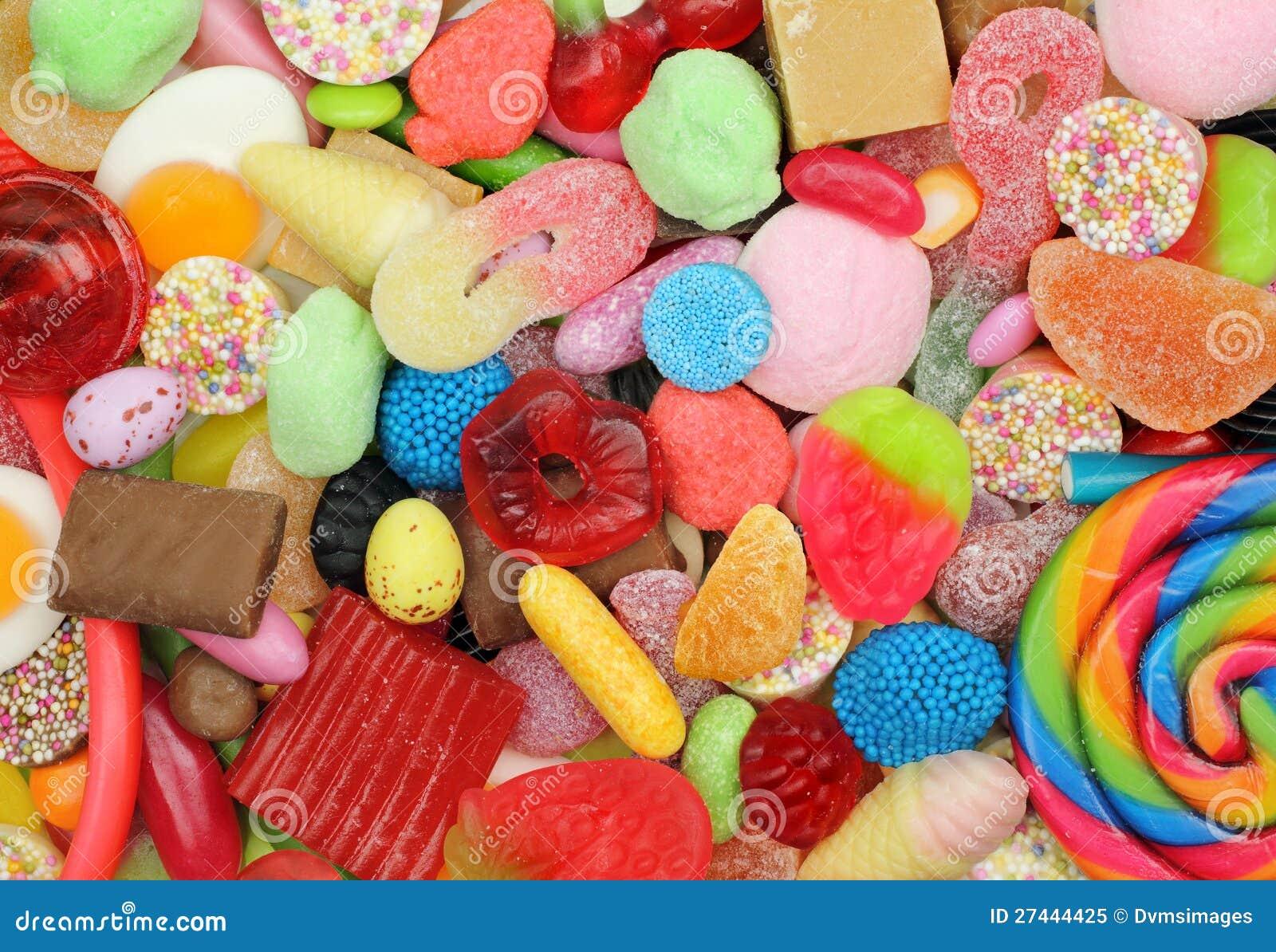 Смешивание конфеты