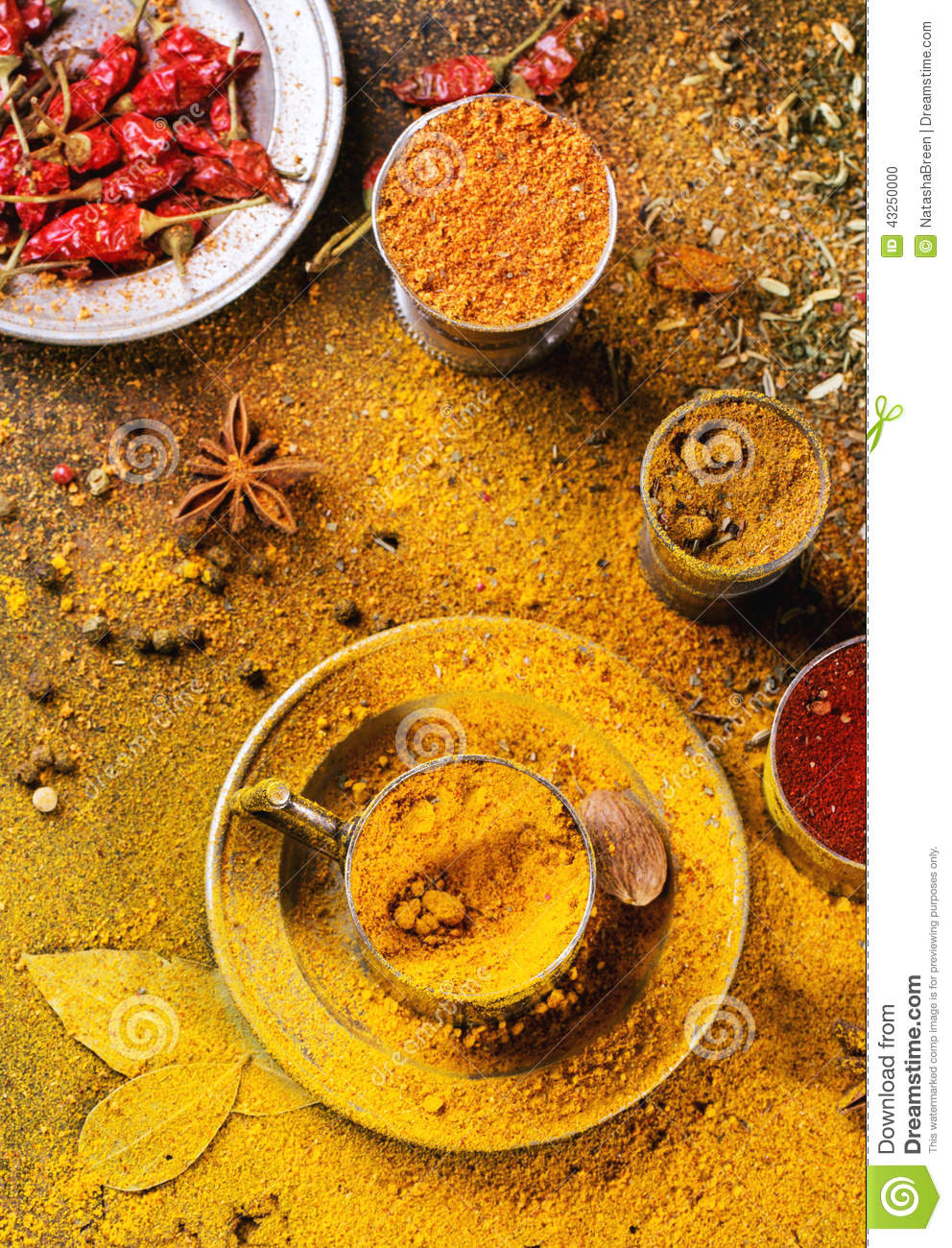 Mix of spices - stock photo photodune.