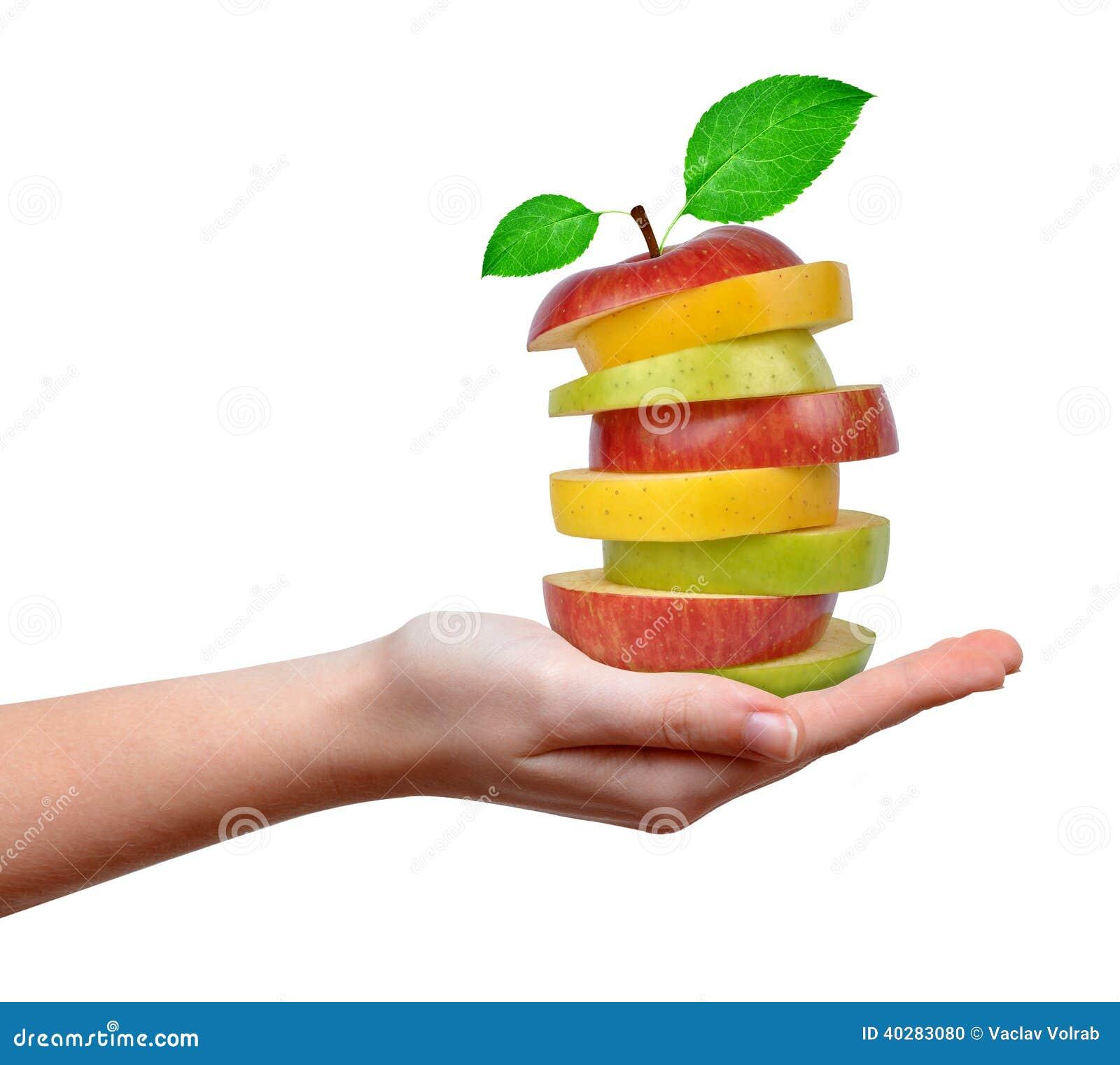 Смешивание Яблока в руках