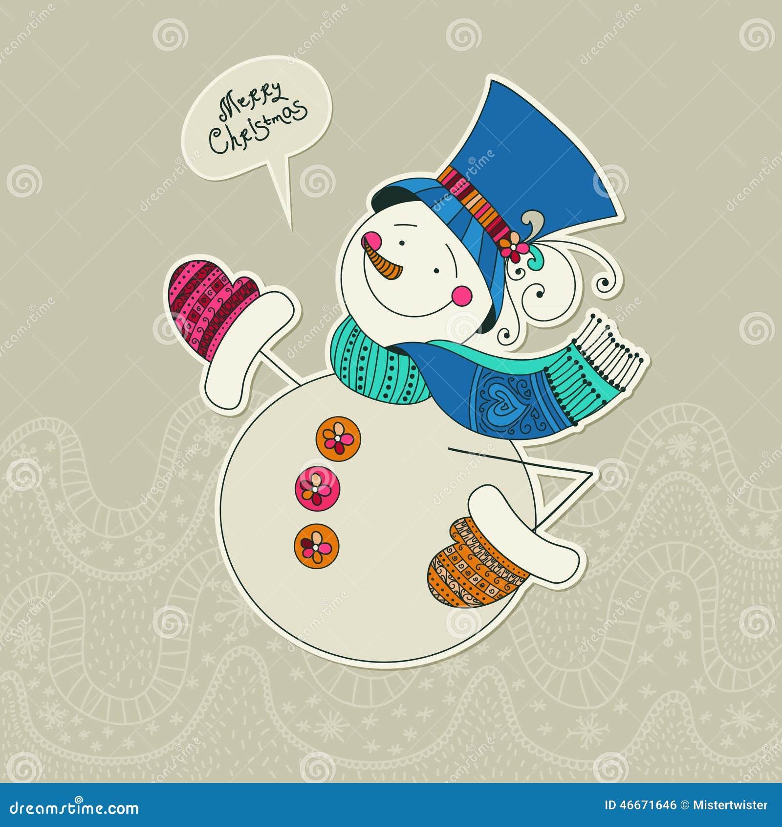 схема снеговика для свитера