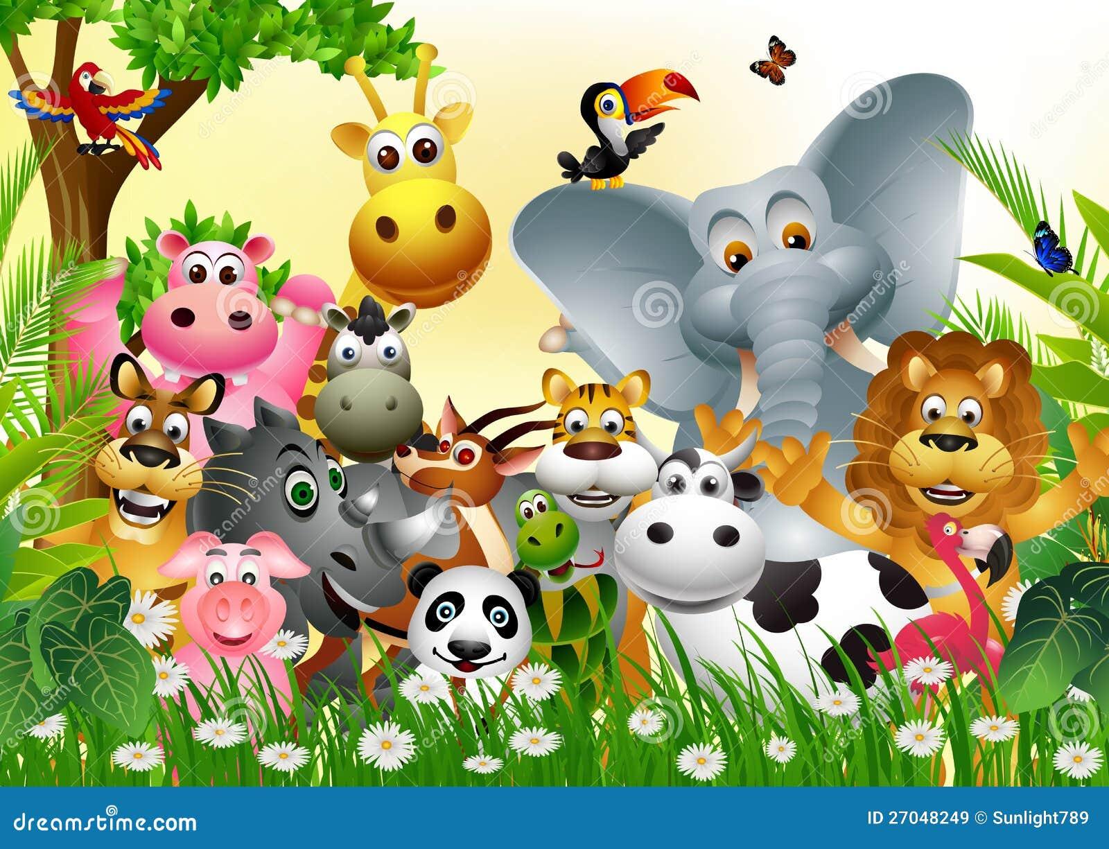 Смешное животное собрание шаржа живой природы