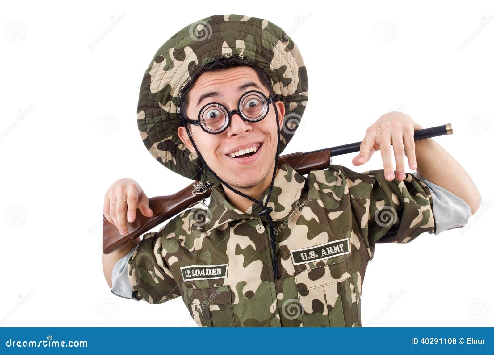 Смешной солдат