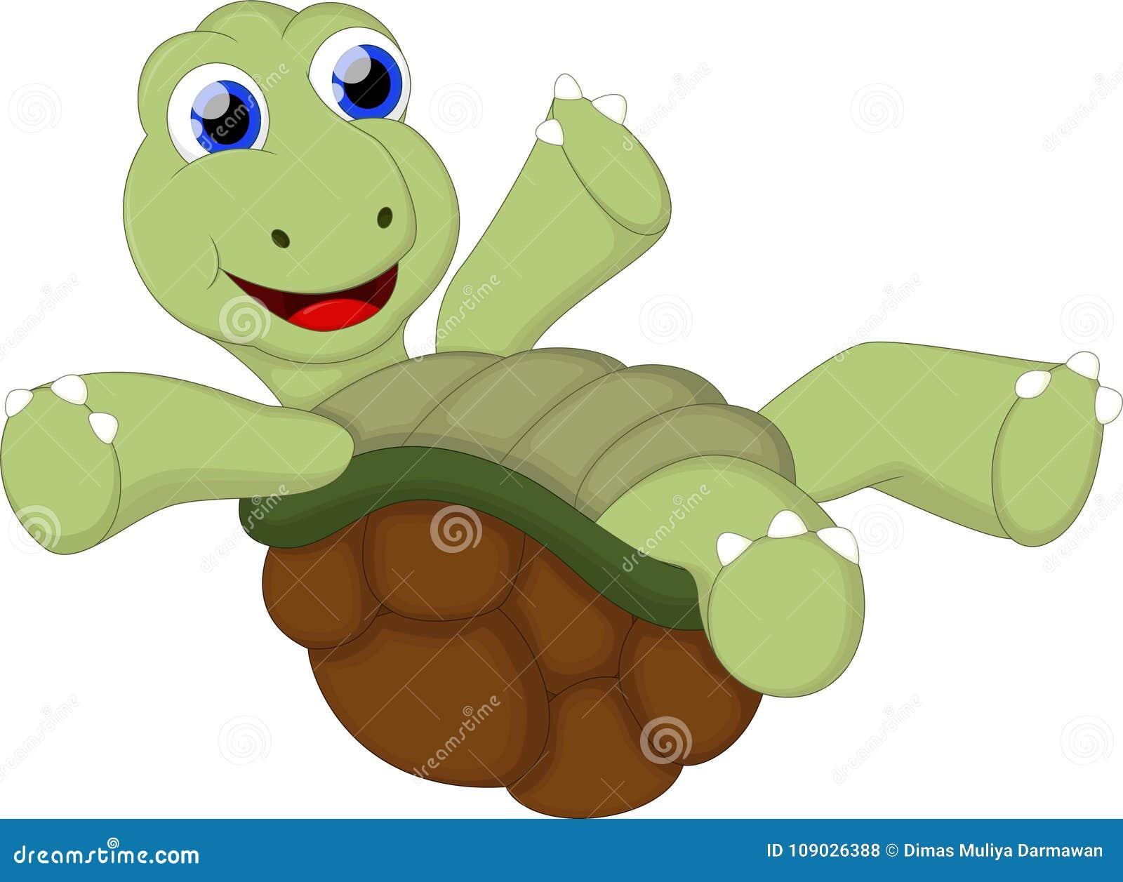 Смешной шарж черепахи с пустым знаком для вас конструирует
