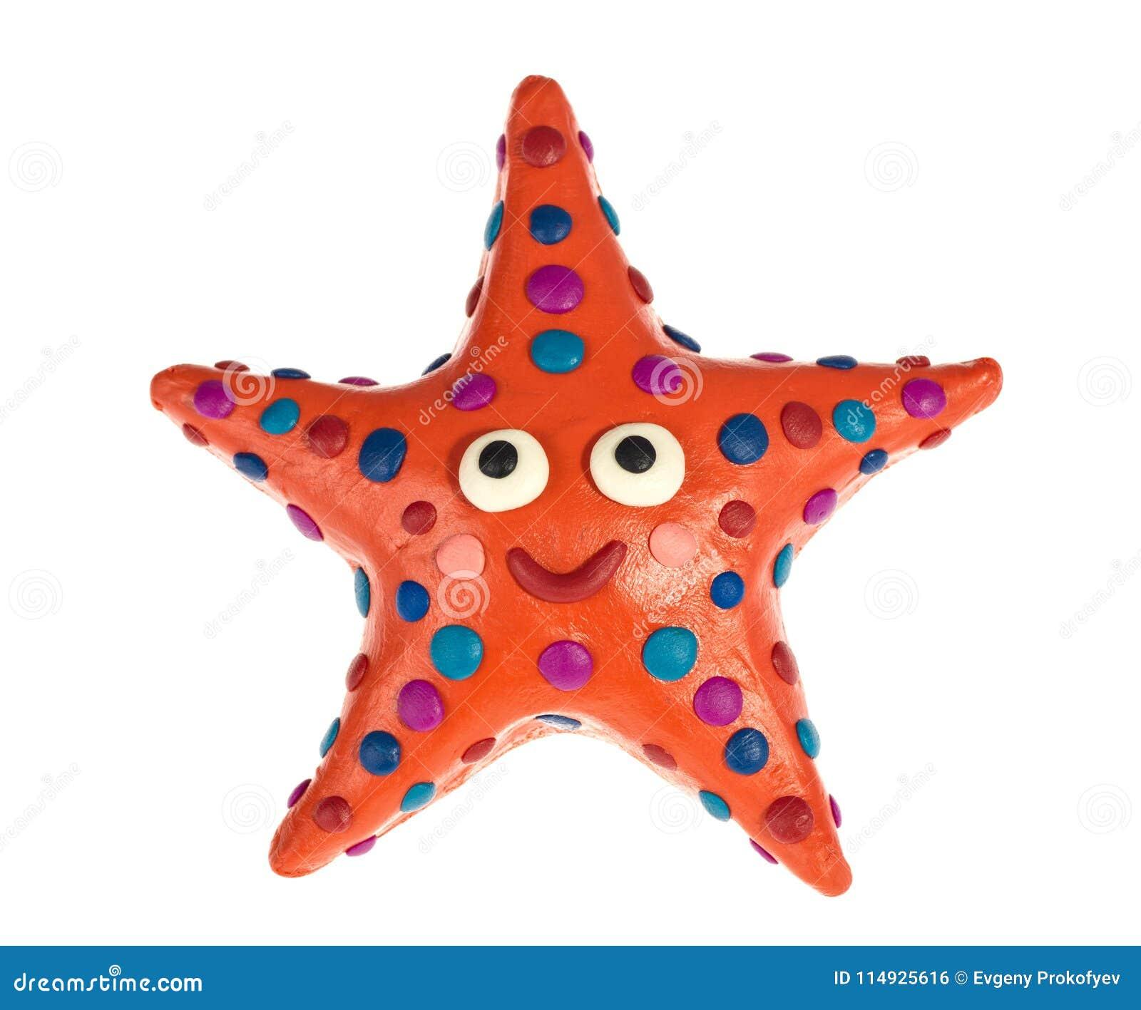 Смешные морские звёзды пластилина