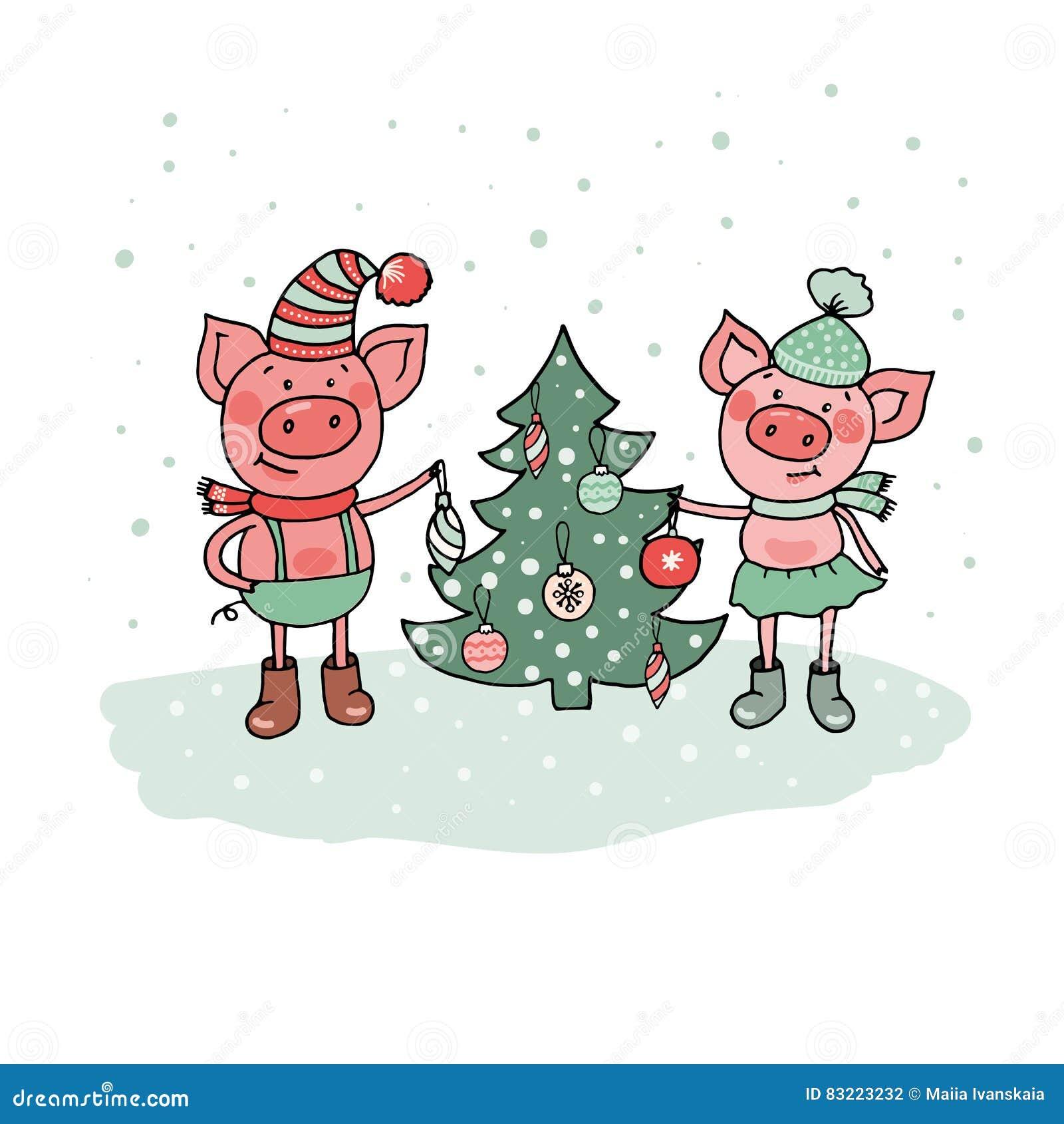 прикольные поздравления к новому году свиньи