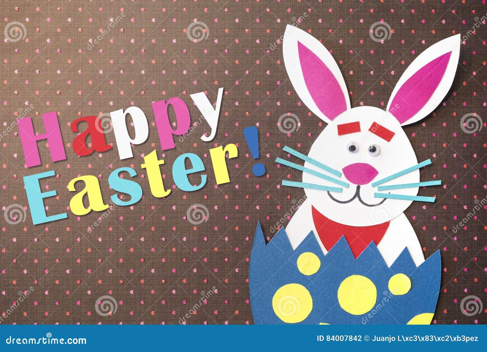 Смешным яичка шаржа и handmade помещенные кроликом внутренние с colorf