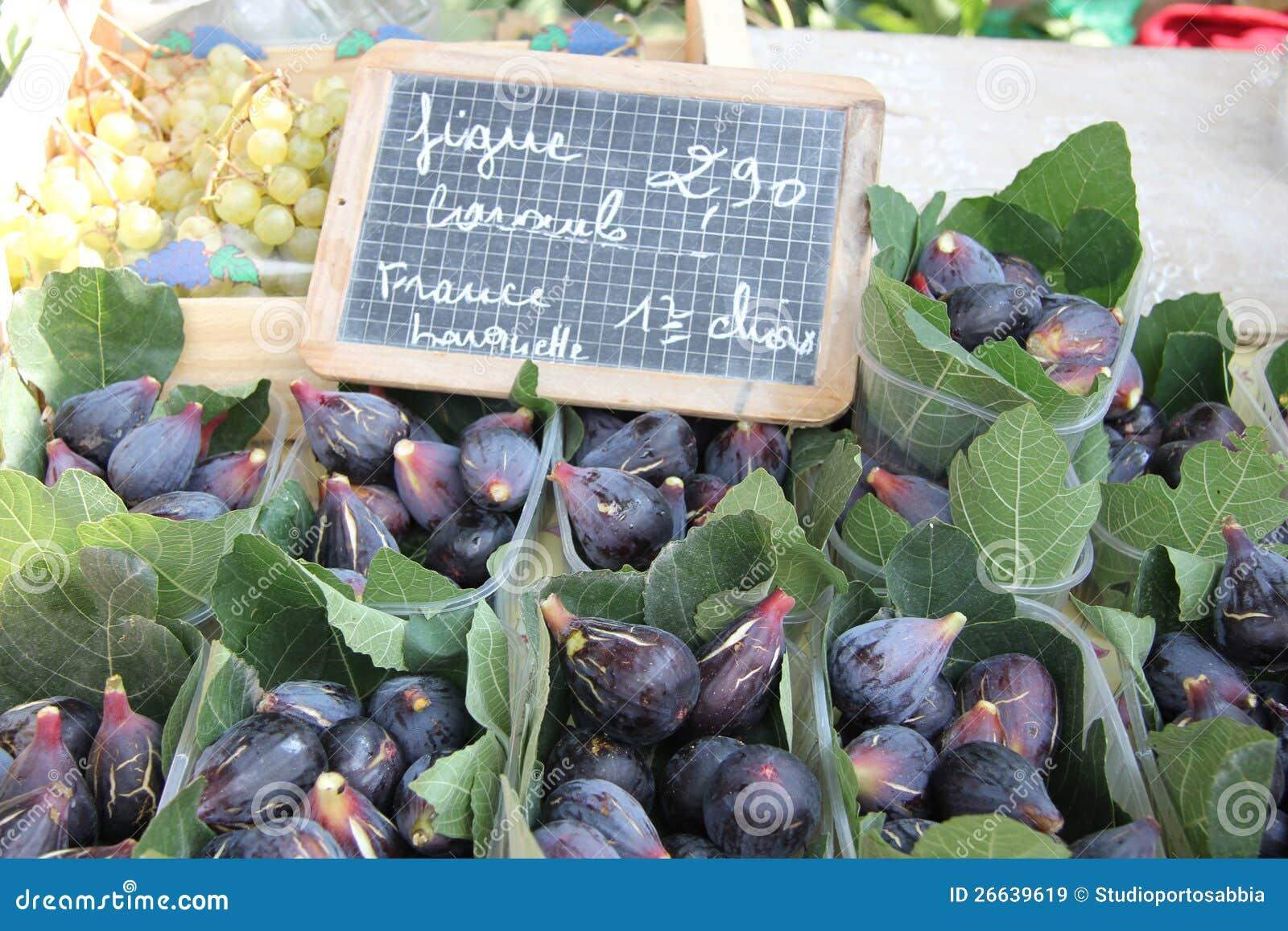 Смоквы на французском рынке