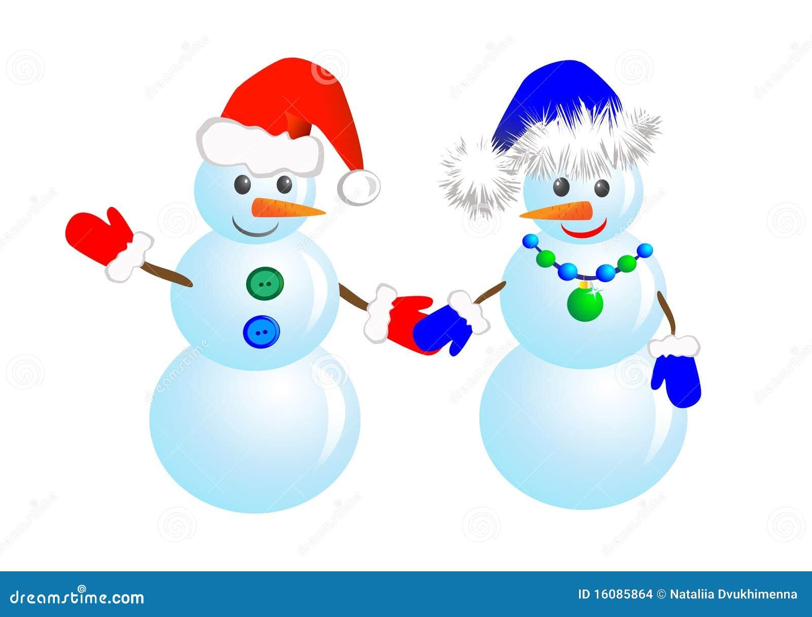 снеговики пар