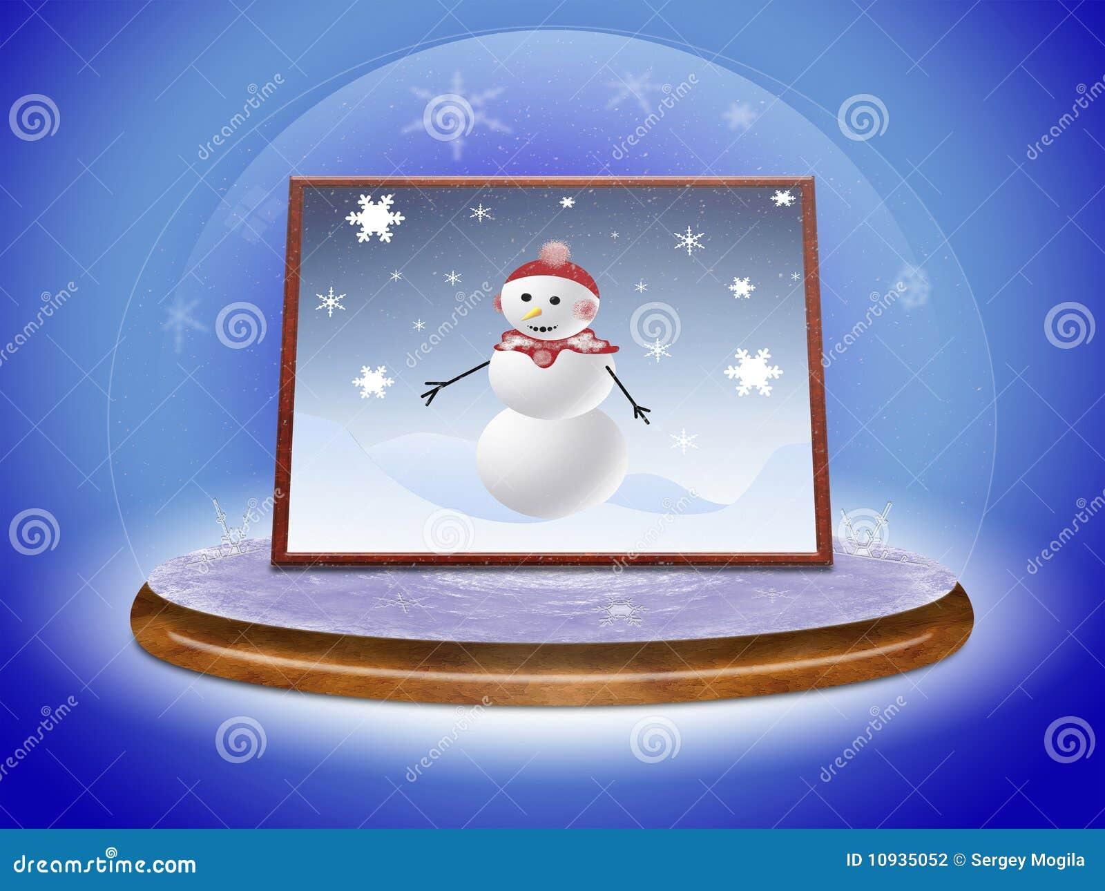 снеговик места шарика стеклянный