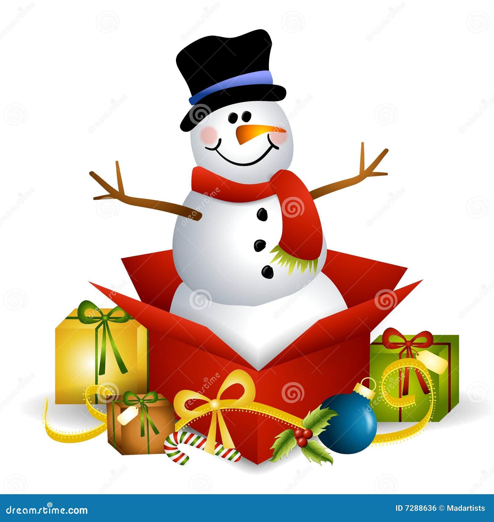 снеговик подарка на рождество