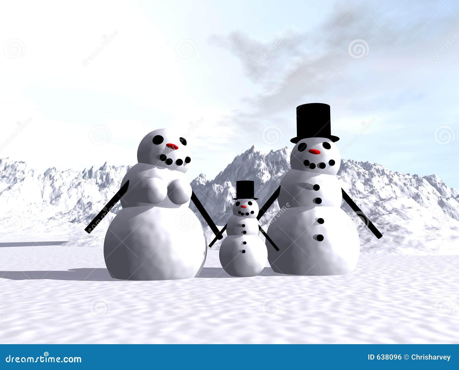 Download Снеговик 14 иллюстрация штока. иллюстрации насчитывающей цвет - 638096