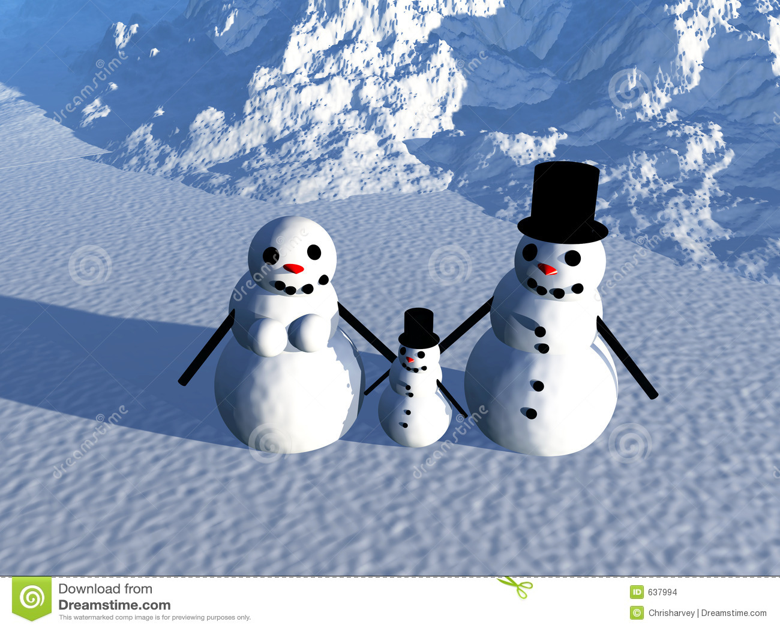 Download Снеговик 18 иллюстрация штока. иллюстрации насчитывающей семья - 637994
