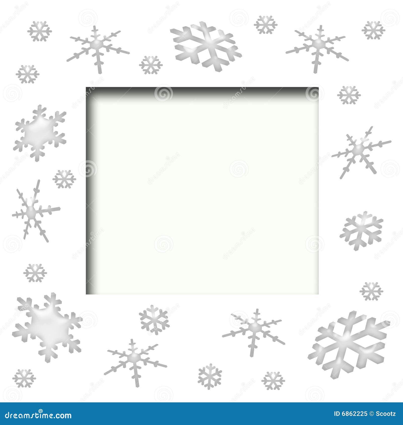 снежинка scrapbook рамки