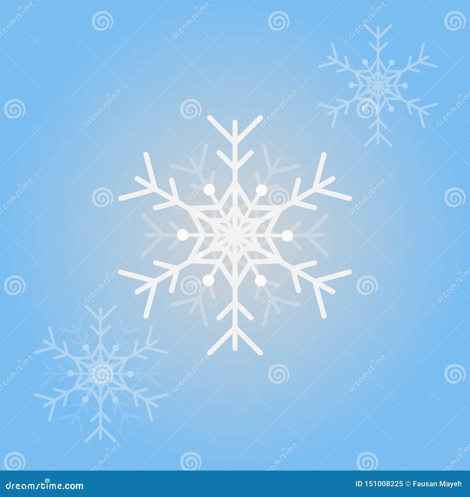 Снежинки вектора для дизайна рождества Изолированная предпосылка снежинок