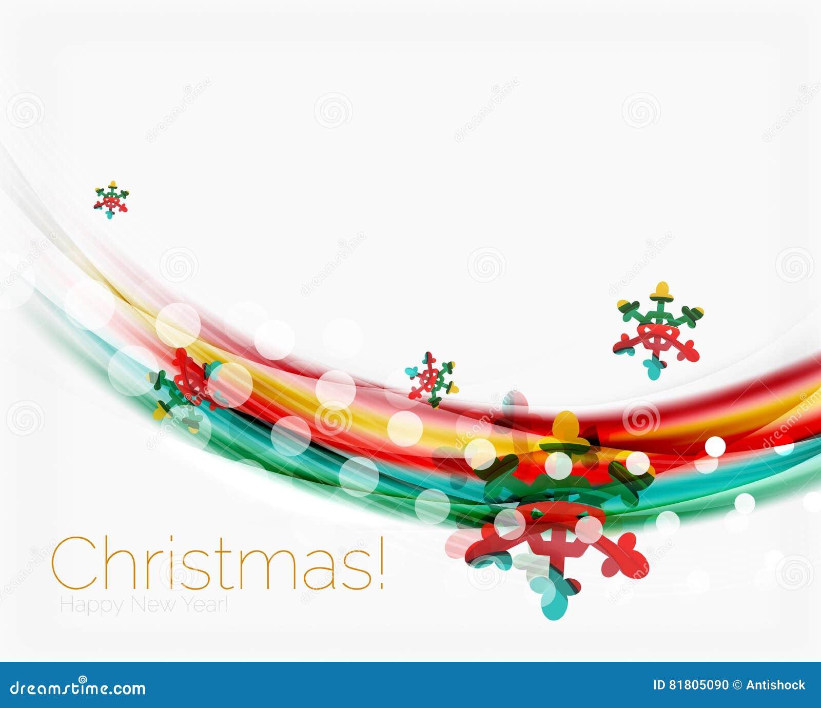 Снежинки на волне выравниваются, предпосылка рождества и Нового Года