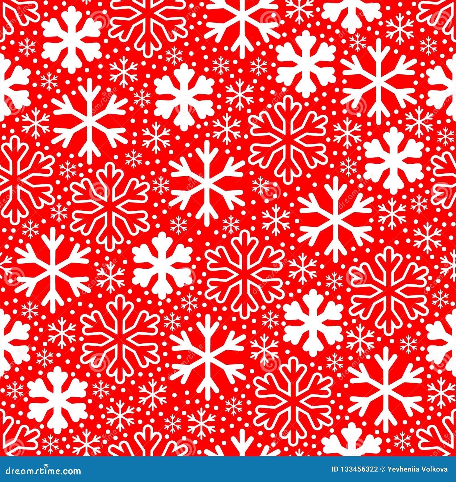 снежинки предпосылки красные белые Картина вектора рождества