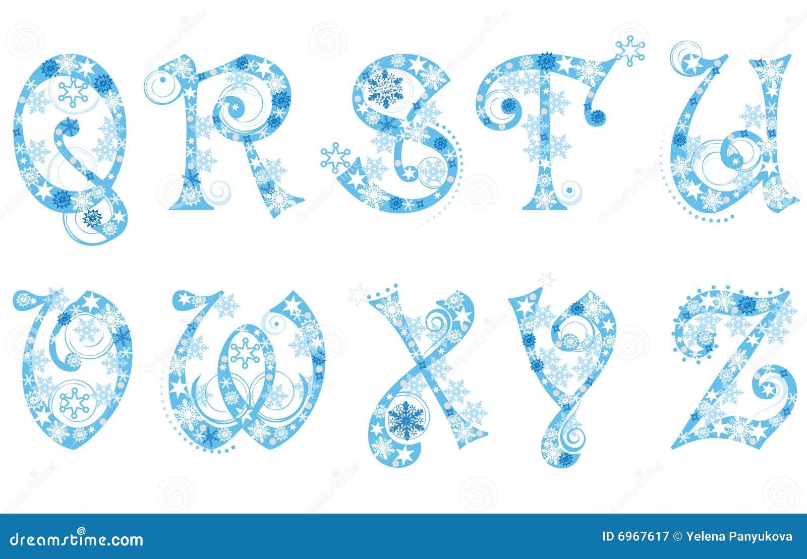 снежинки рождества алфавита