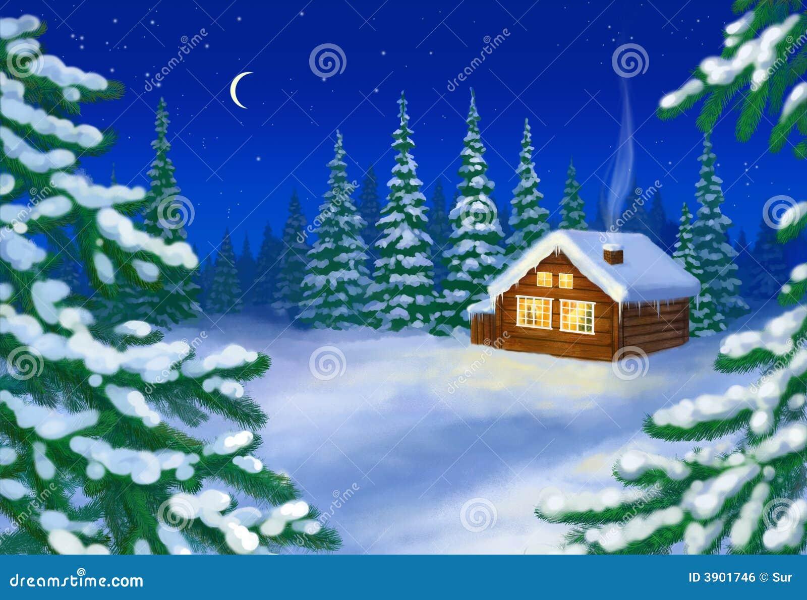 снежок дома пущи
