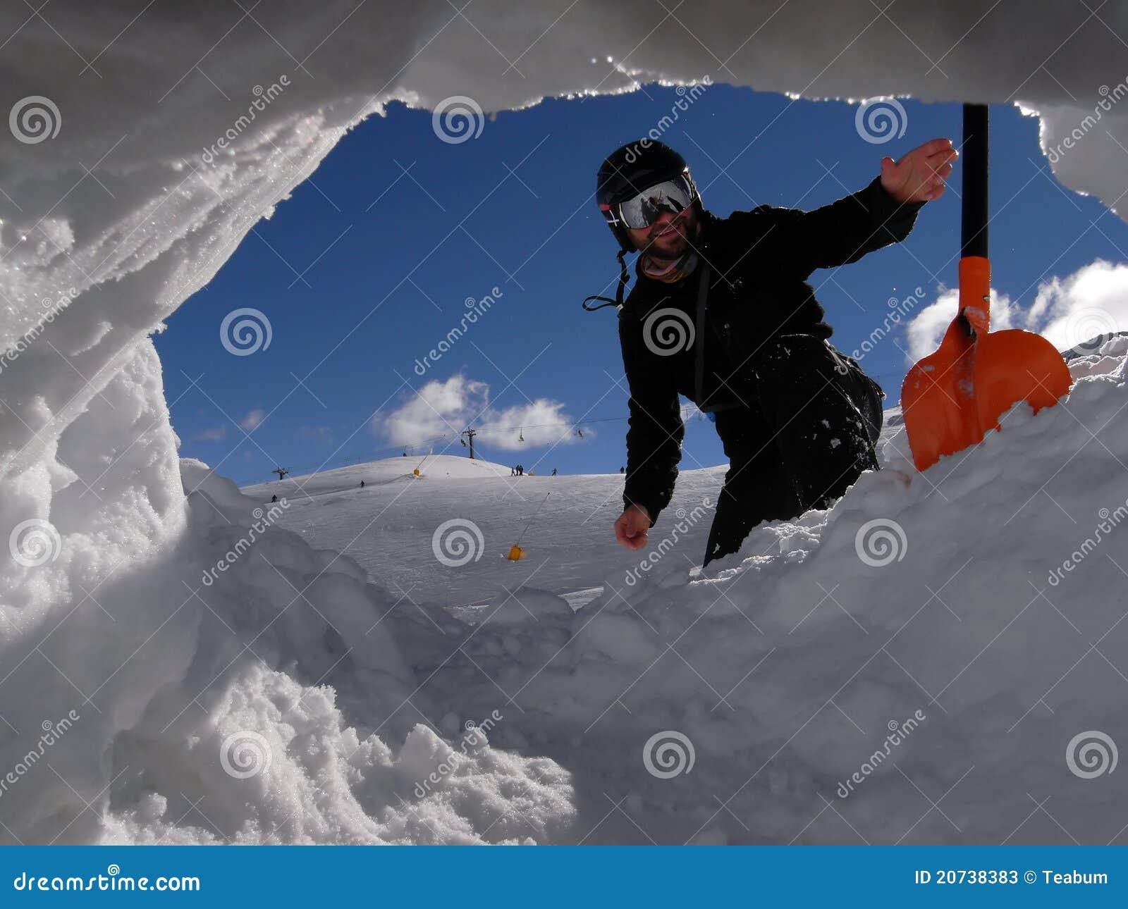 снежок лопаткоулавливателя человека отверстия