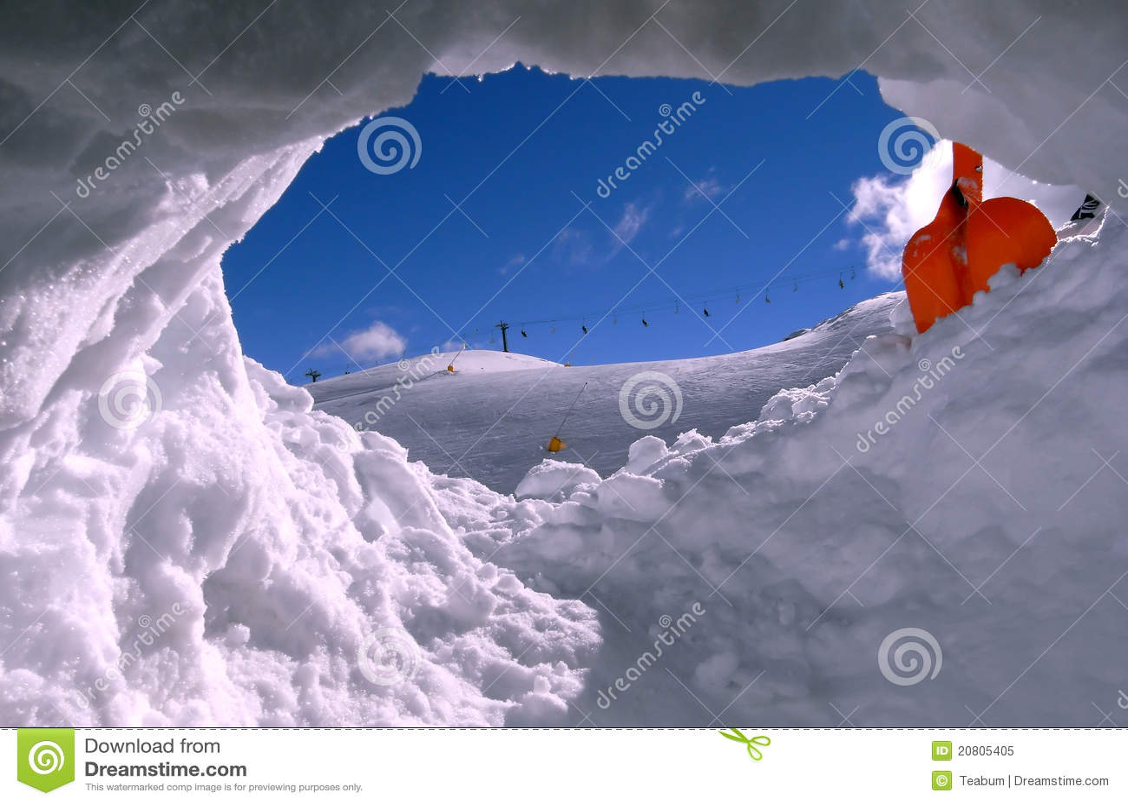 снежок лыжи отверстия поля