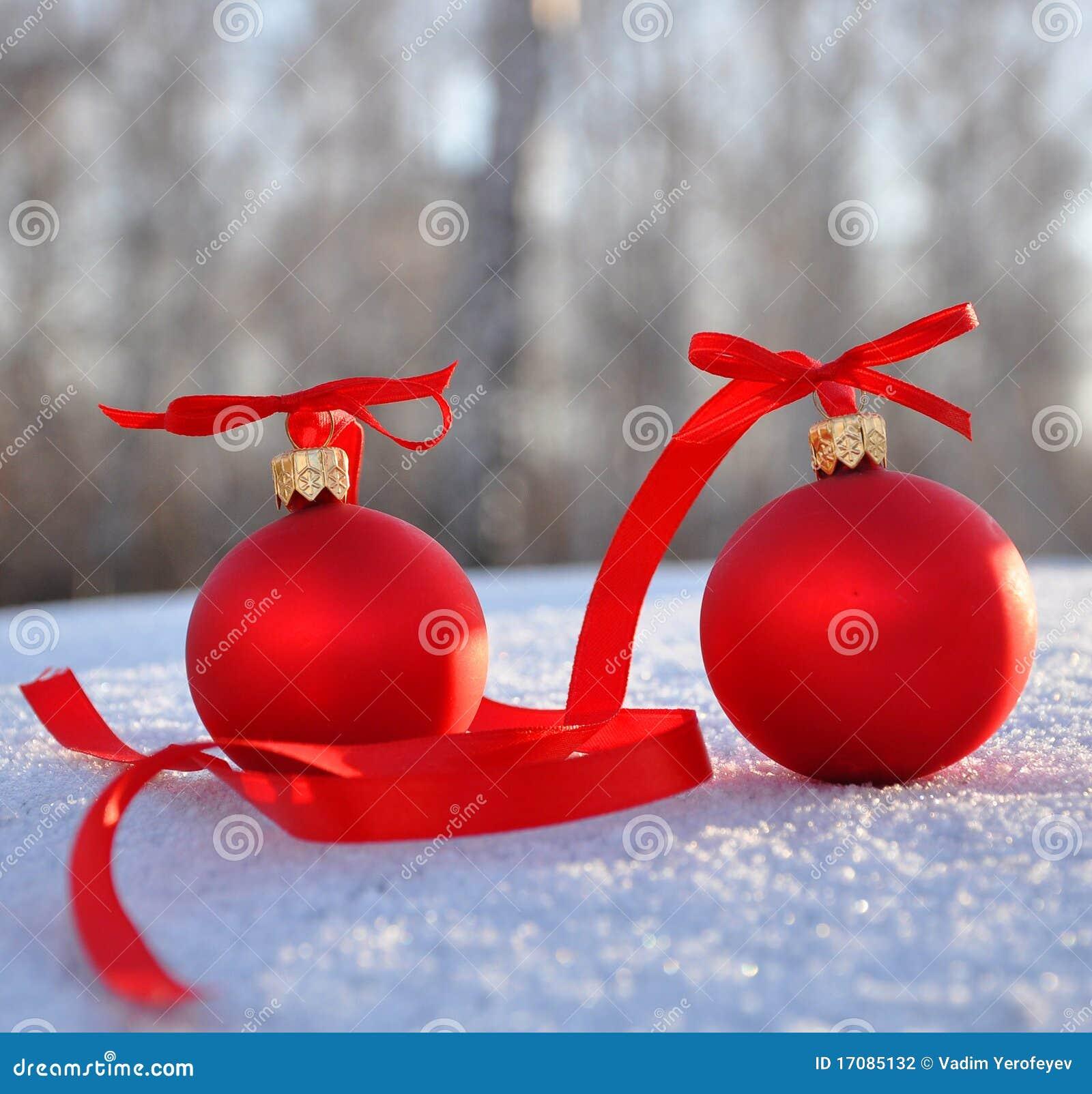 снежок рождества шариков предпосылки стеклянный красный