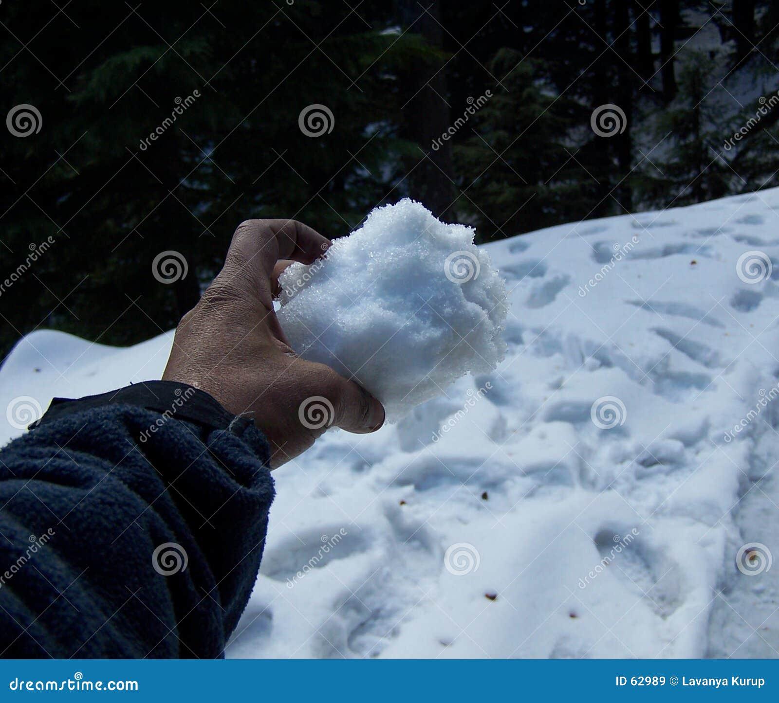 снежок руки