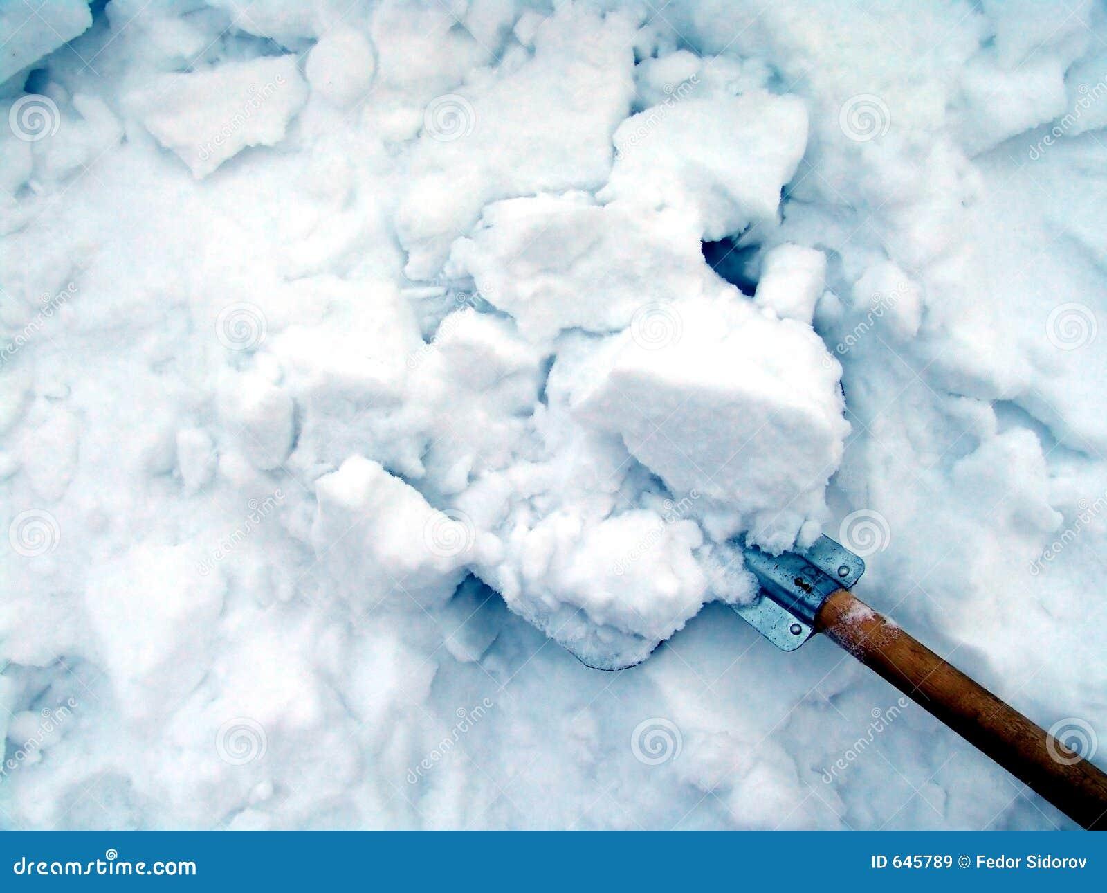 Download снежок чистки стоковое изображение. изображение насчитывающей смещение - 645789