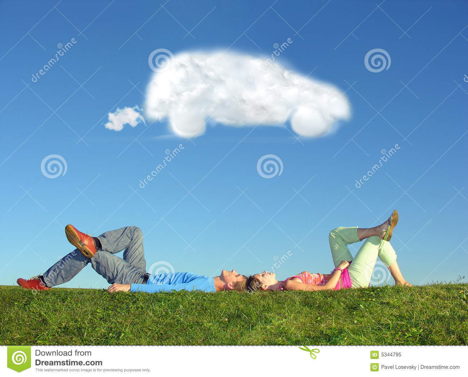 сновидение пар облака автомобиля