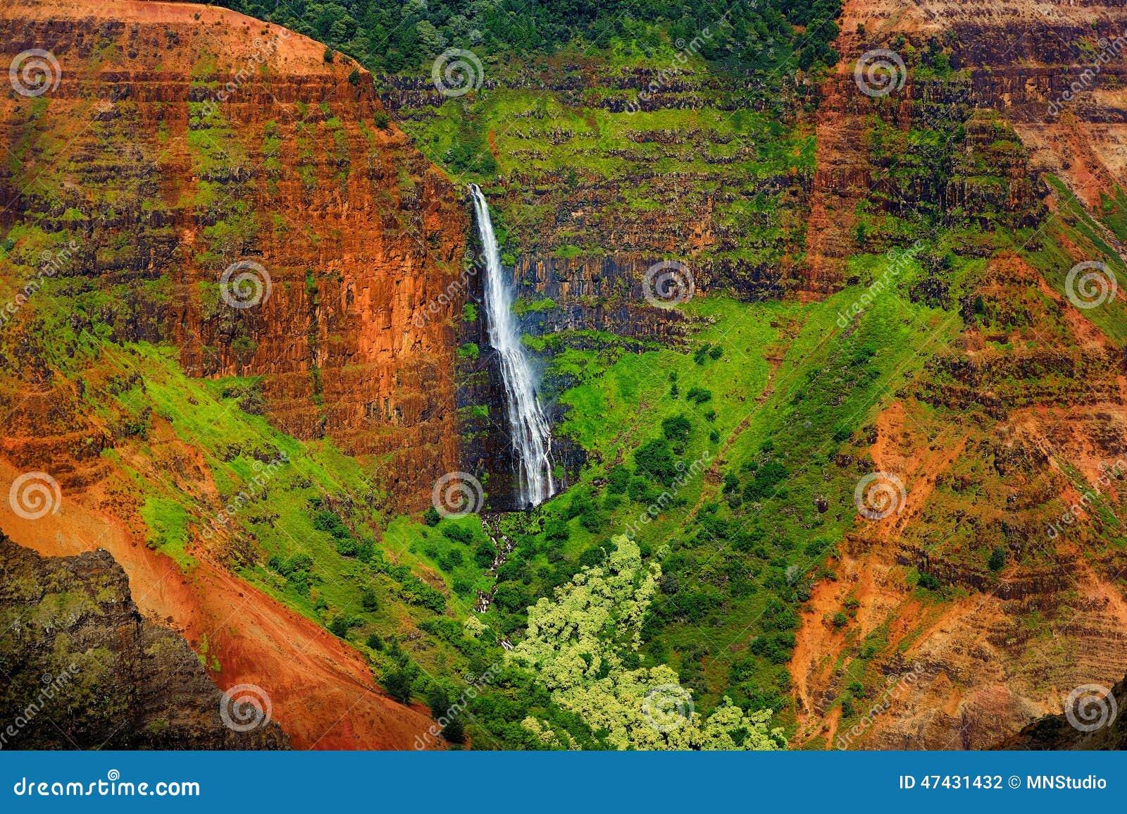 Сногсшибательный вид с воздуха в каньон Waimea