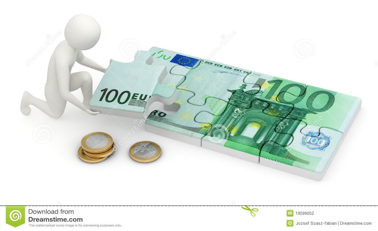 собирая головоломка человека евро 3d