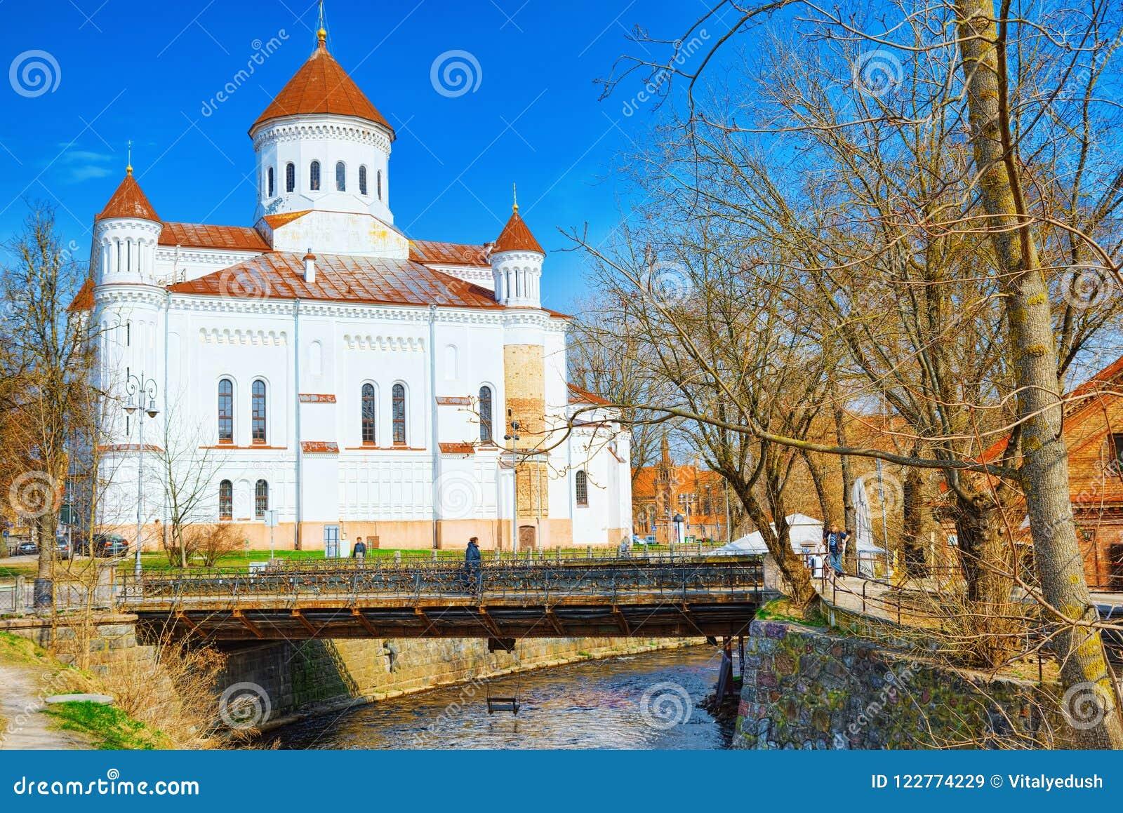 Собор Prechistensky - правоверный собор в Вильнюсе размещено