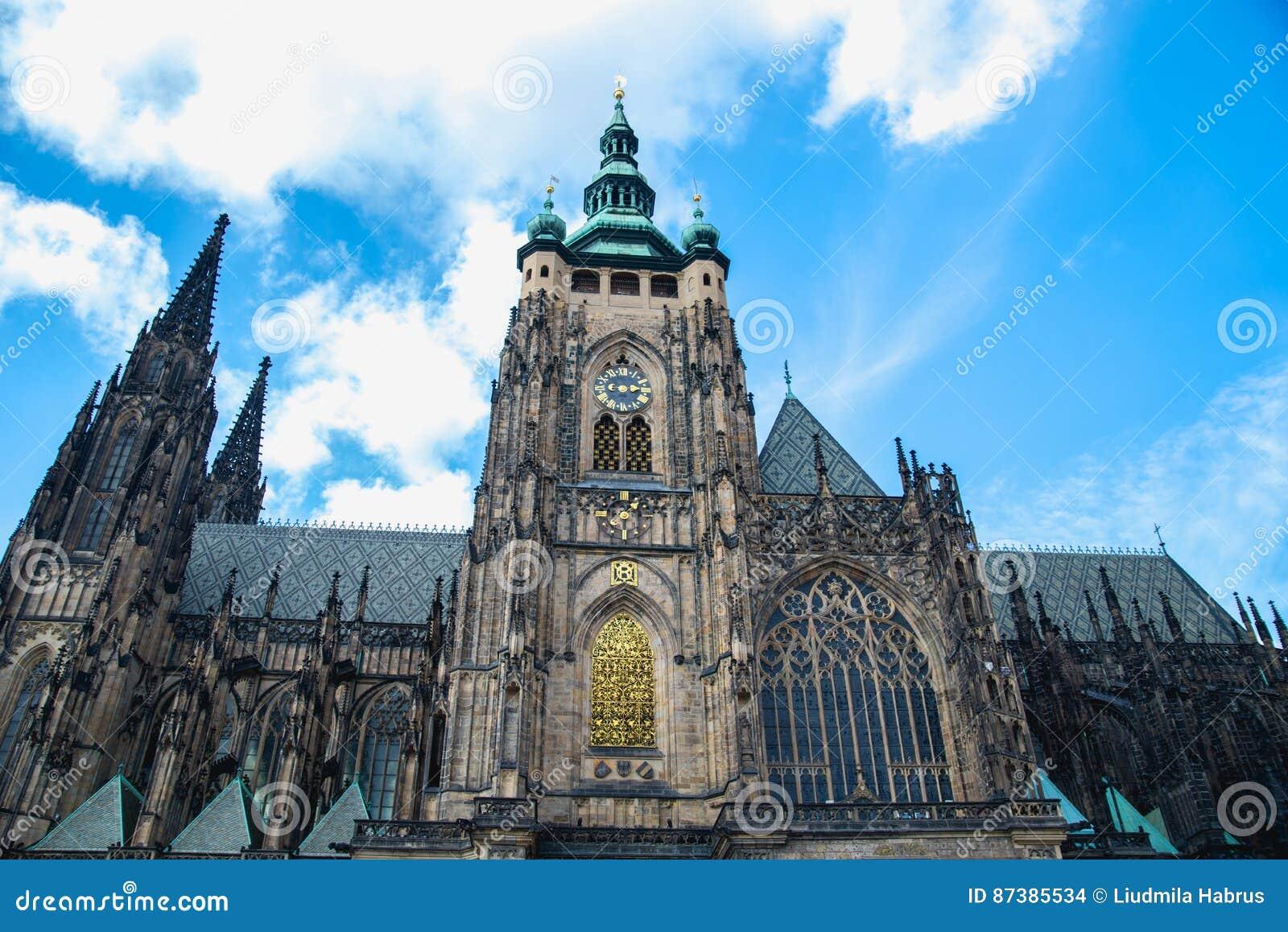 Собор Vitus Святого в Праге, чехии
