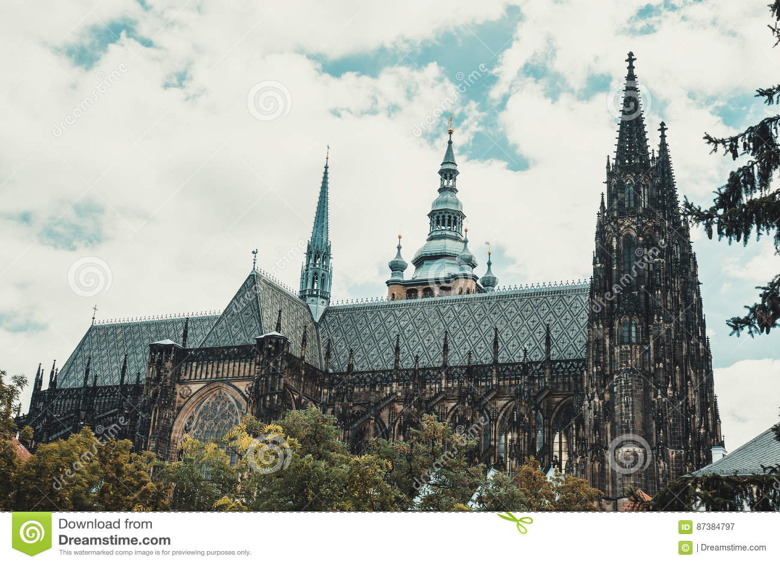 Собор Vitus Святого в чехии Праги
