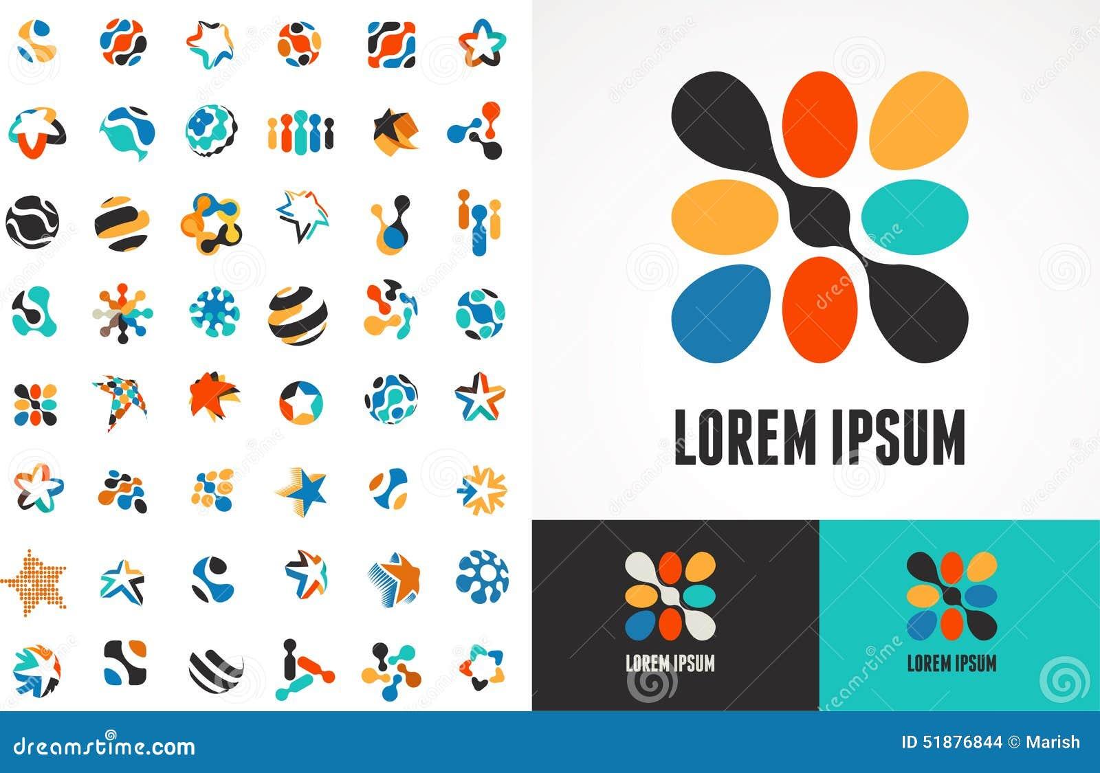Собрание абстрактных значков и символов