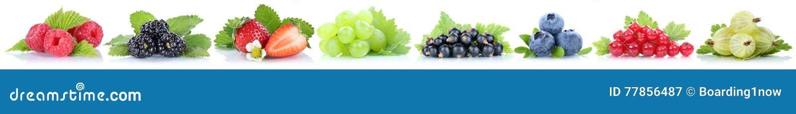 Собрание голубик клубник виноградин плодоовощей ягод красных