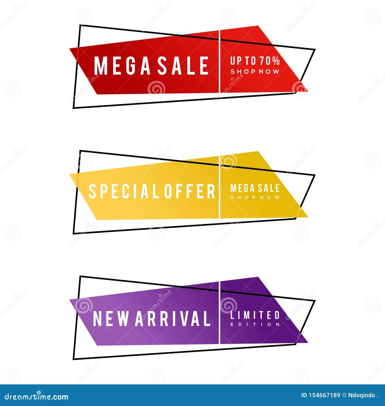 Собрание знамени продвижения продажи, мега продажа, особенное предложение, новое прибытие, 70 , ограниченный тираж