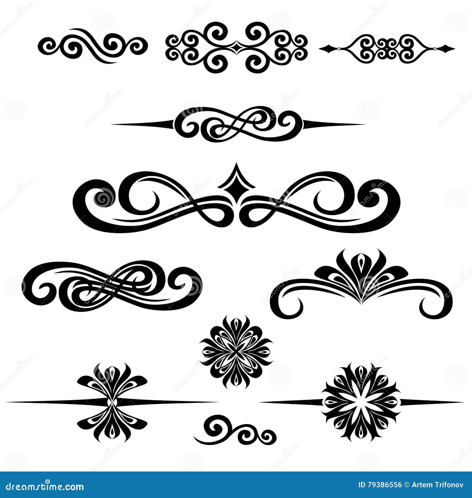 Собрание рамки нарисованной рукой винтажной для украшения текста в ve