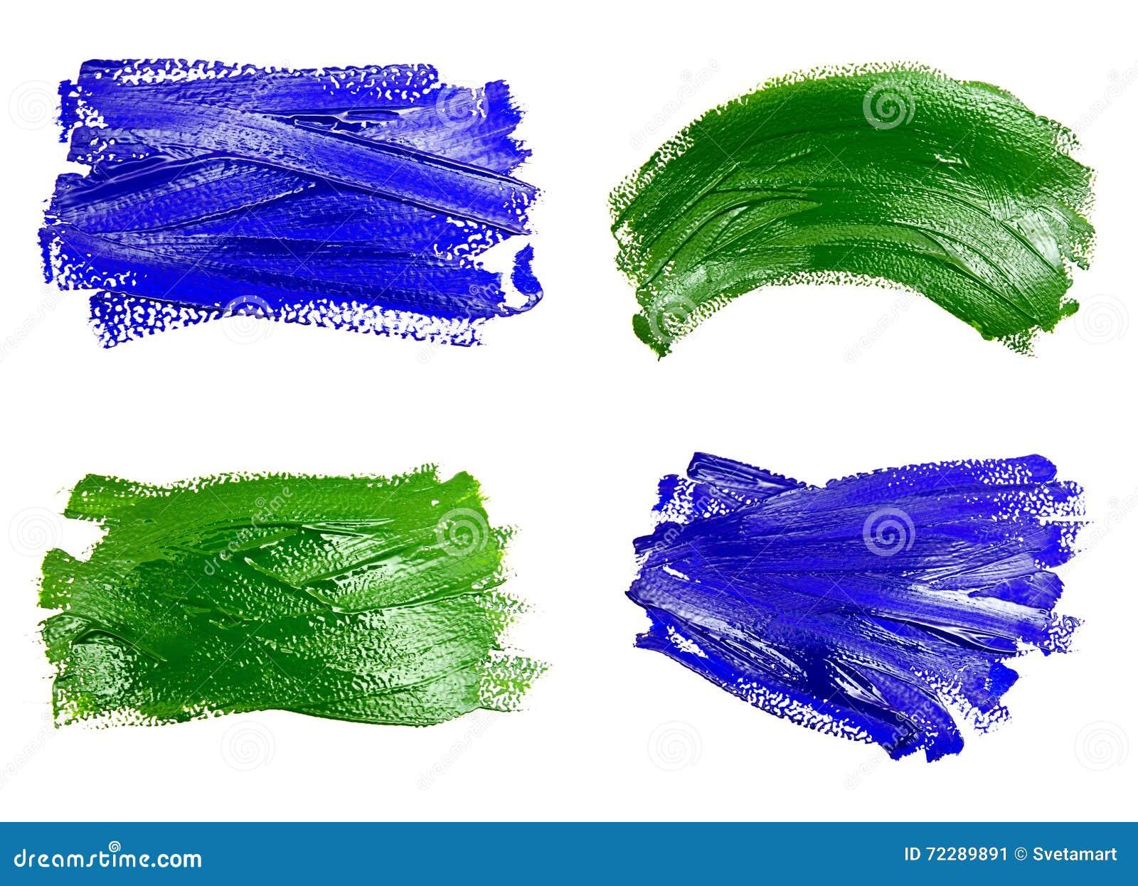Download Собрание фото голубых и зеленых ходов кисти Стоковое Изображение - изображение насчитывающей backhoe, paintbrush: 72289891