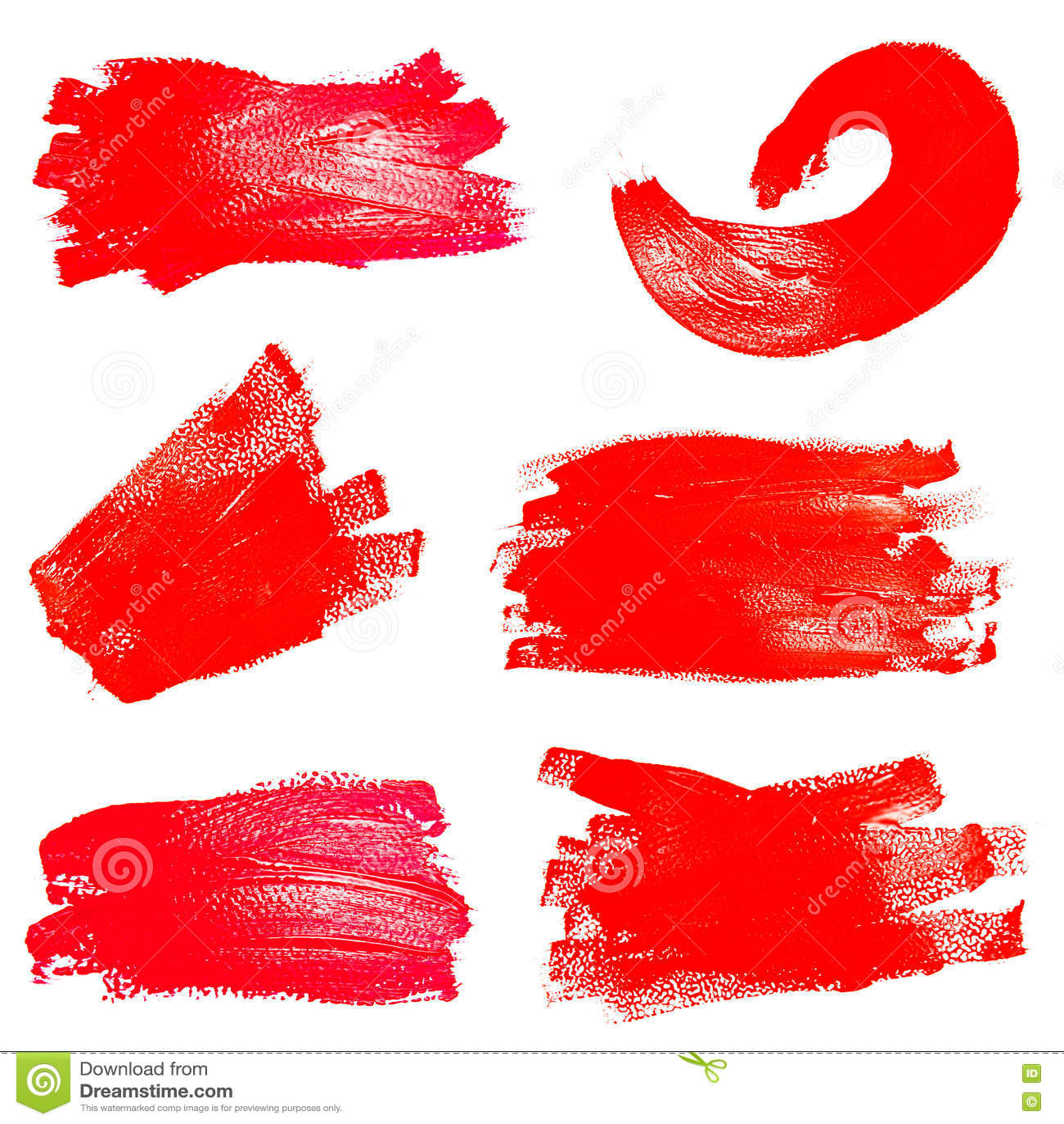 Download Собрание ходов фото красных кисти Стоковое Изображение - изображение насчитывающей коллаж, акварель: 72290461